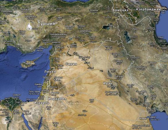 где находится Сирия