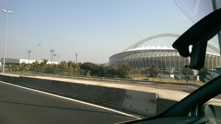 Arriving in Durban...