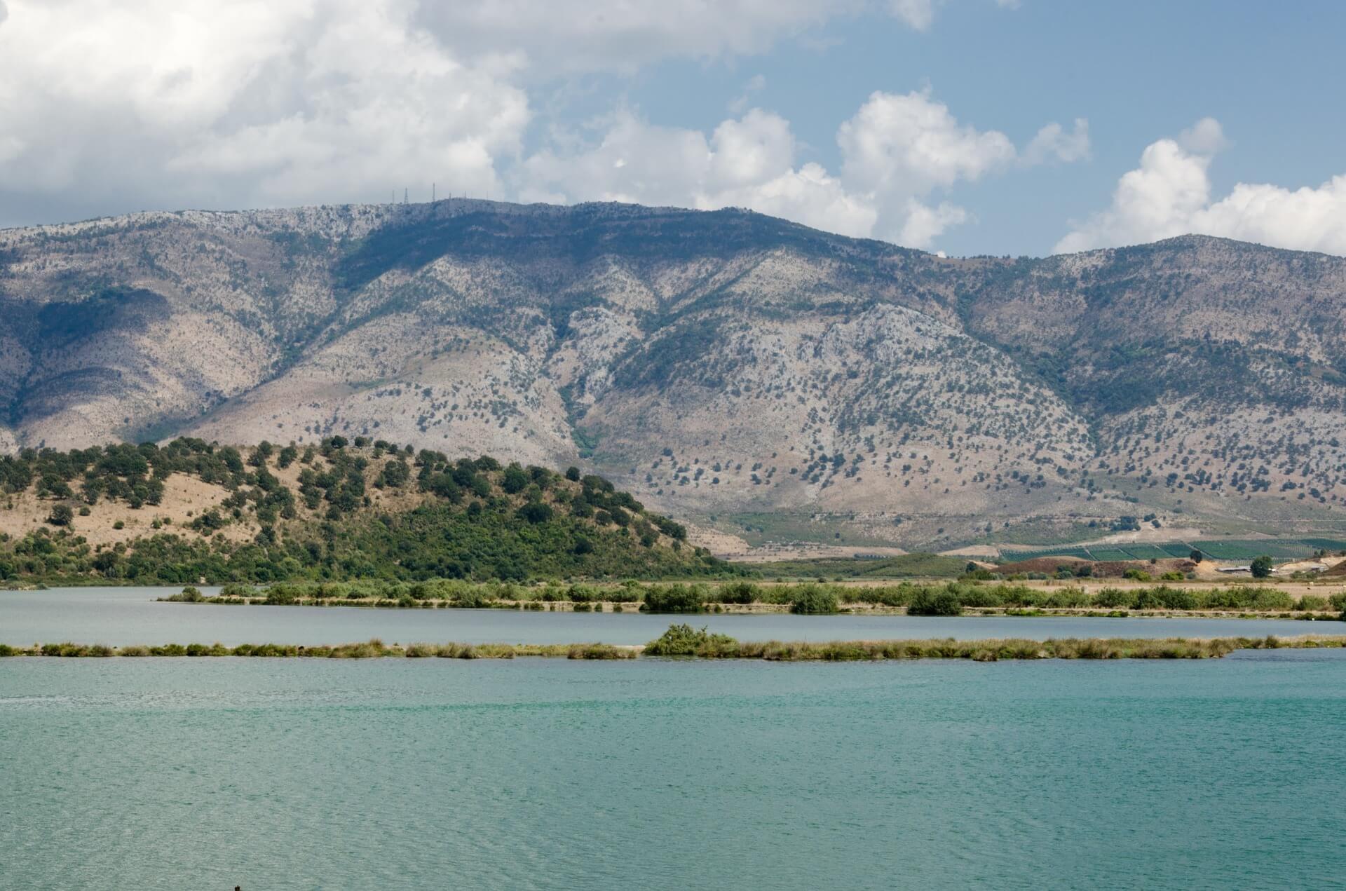 Butrint, kustlijn, Albanie