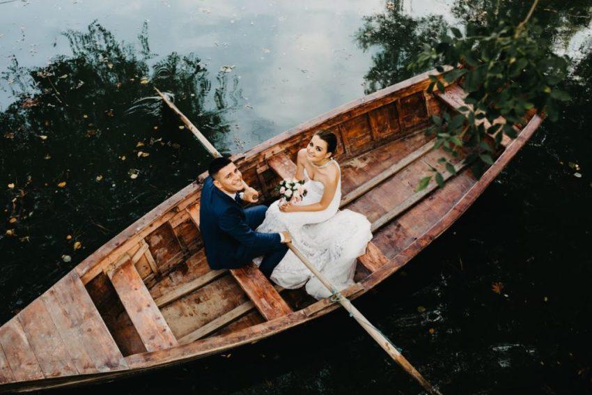 Jachthotel-Boot met echtpaar