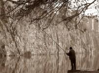 A lone fisherman by the Mtkvari River