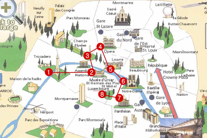 Days Paris Itinerary Travelling Buzz - What to see in paris map