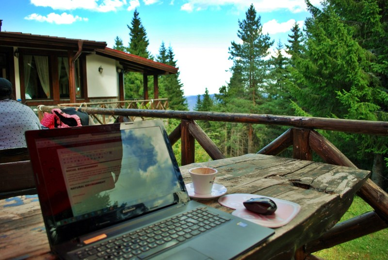 office in the woods coworcation camp bulgaria