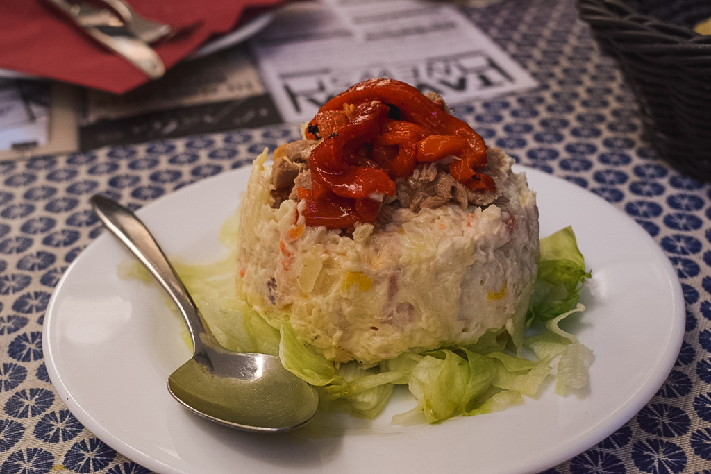 Russian salad - - what to eat and drink in Malaga