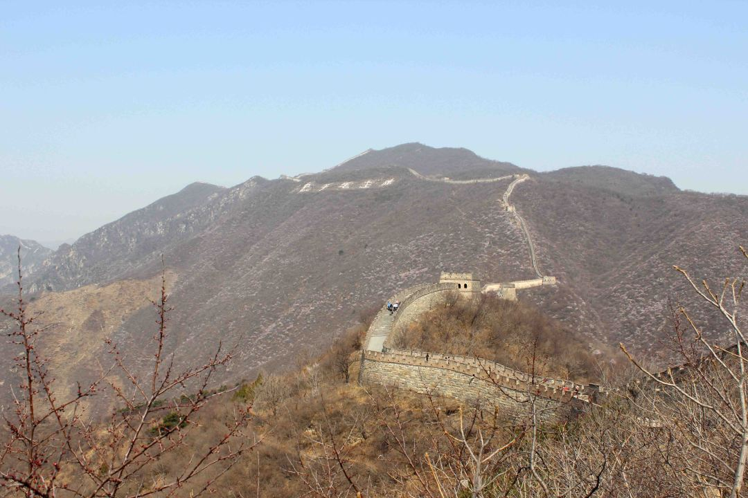 The Mutianyu section is located 70 kilometres northeast of Beijing