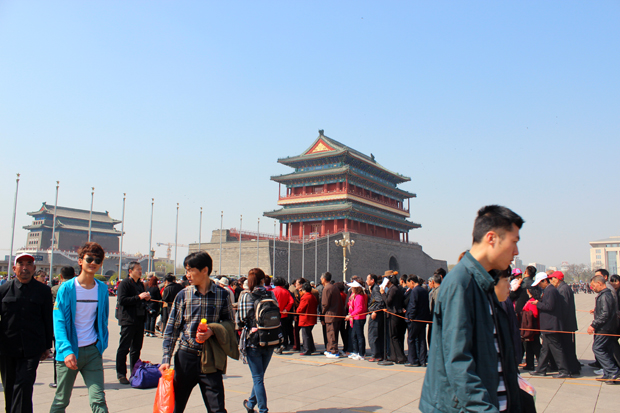 Zhenyangmen Gate, also known as Qianmen Gate, which marks the south end of Tiananmen Square