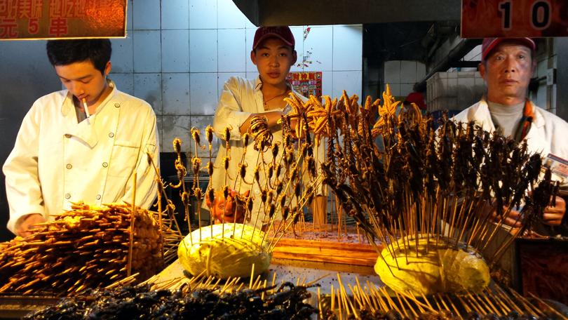 Dongangmen Snack Market Beijing China