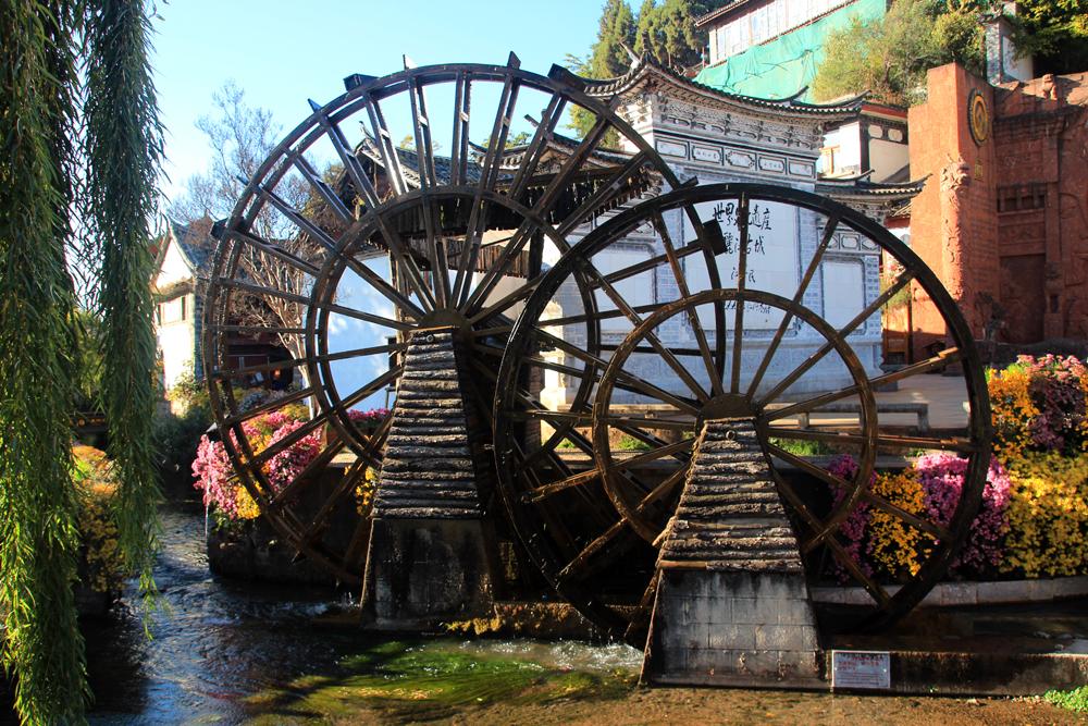 Water wheel Lijiang Yunnan China