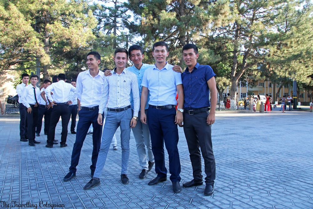 The Jewels of Samarkand - wedding party at the Registan