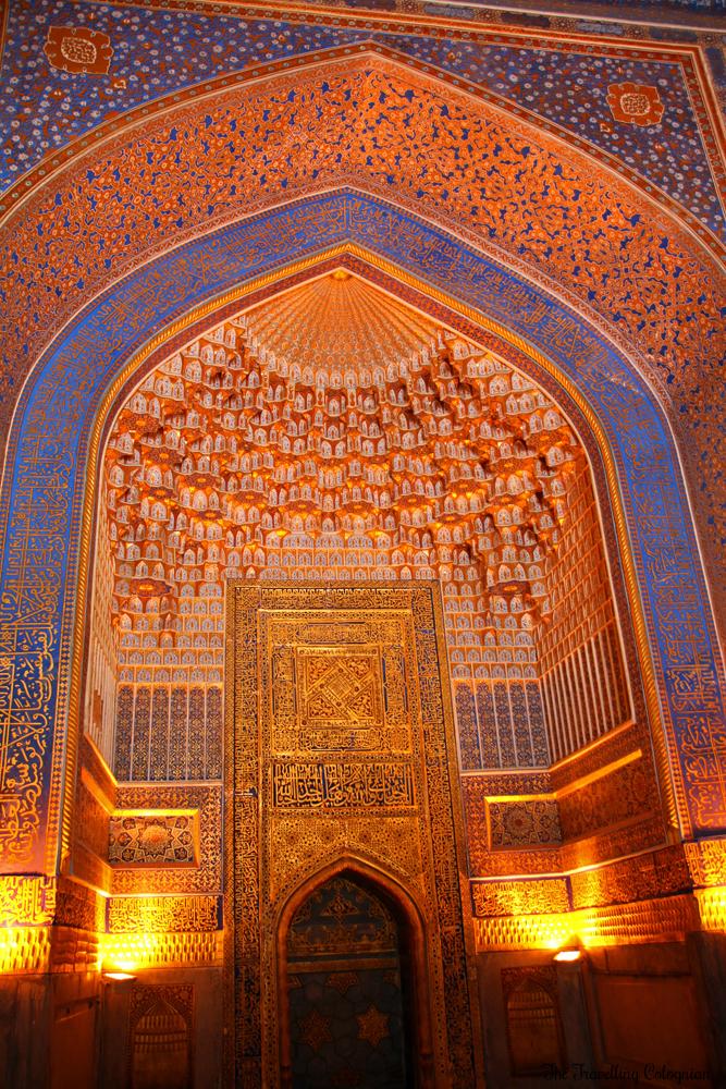 Die Juwelen von Samarkand - der Registan - die Freitagsmoschee in der Tillakori Medrese