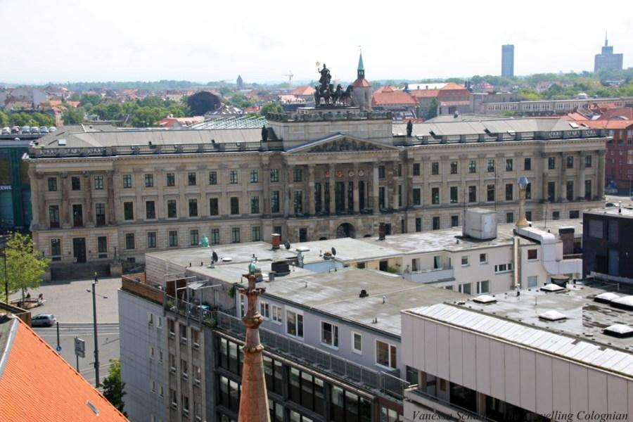 Braunschweiger Schloss vom Rathausturm Braunschweig Niedersachsen Deutschland EUROPA