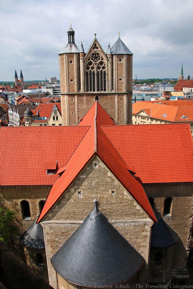 Braunschweig vom Rathausturm Braunschweig von oben Braunschweig Niedersachsen Deutschland EUROPA
