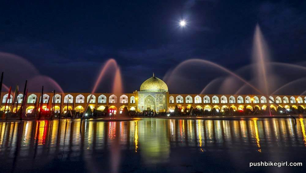 Isfahan at Night Iran MIDDLE EAST PERSIAN GULF