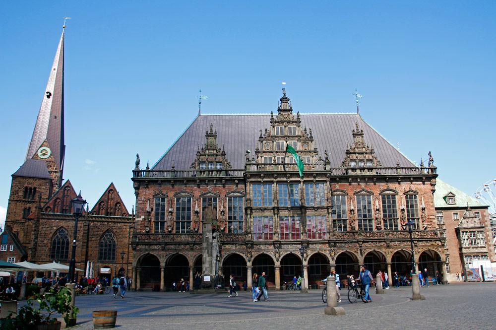 Das Rathaus ist eine der bedeutendsten Sehenswürdigkeiten in Bremen