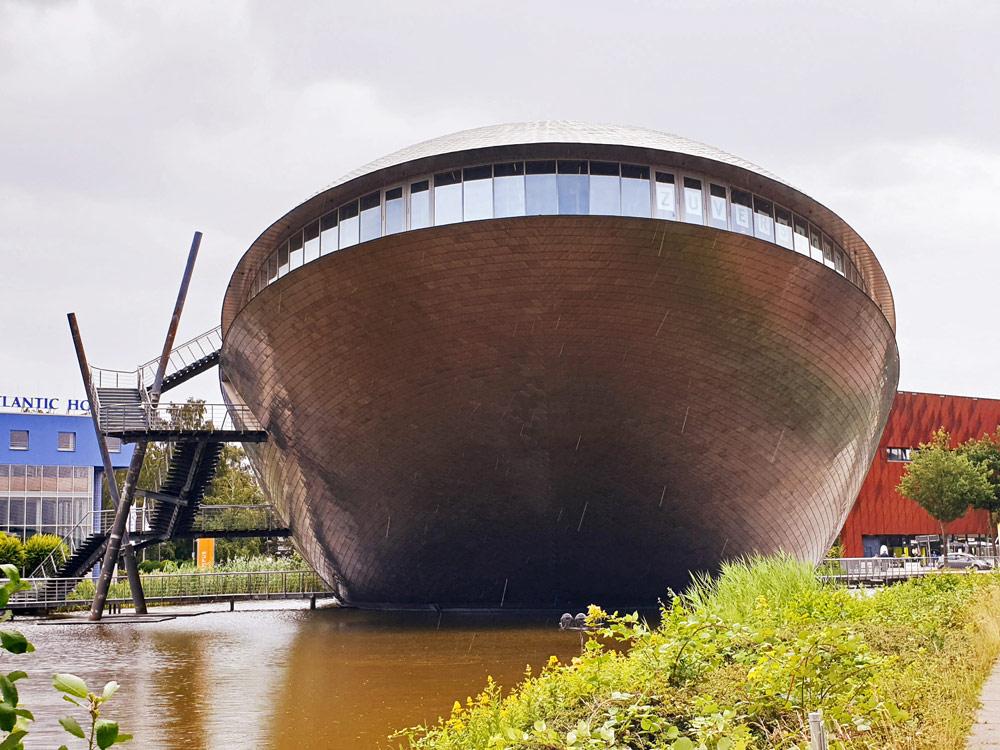 Das Universum in Bremen ist ein Wissenschaftsmuseum hat die Form eines Wals