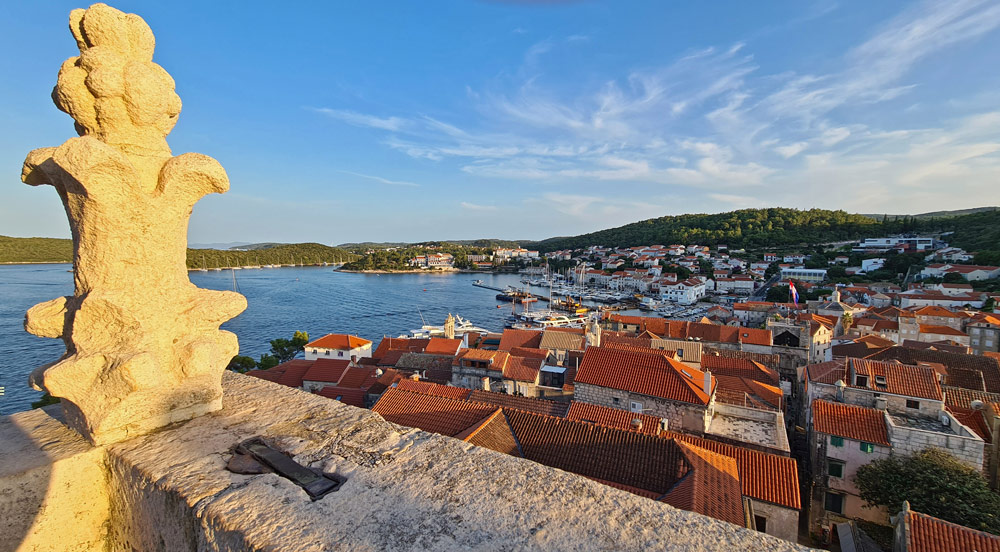 View of Korcula from the Cathedral of St. Mark