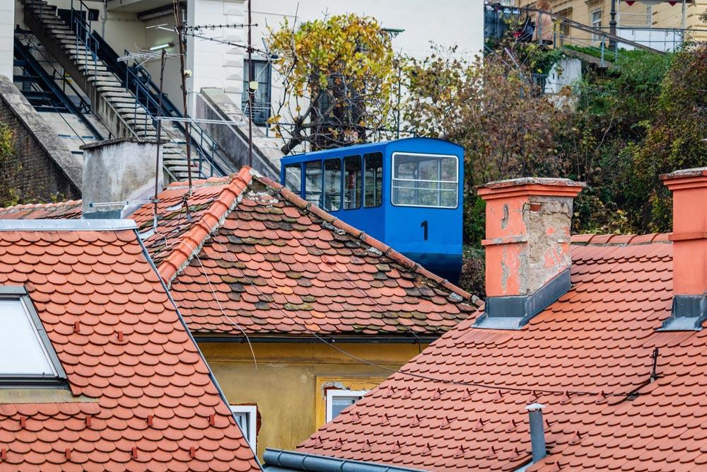 Rack railway in Zagreb