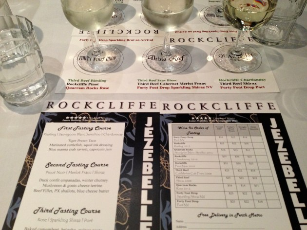 Rockcliffe wine dinner at jezebelle in Guildford