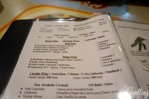 Cabbages and Condoms Menu Bangkok