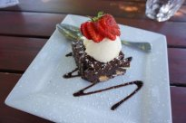 Cheap chocolate brownie at The Laughin' Barrel Swan Valley Perth