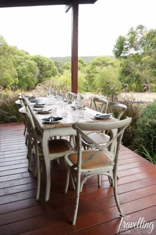 Arimia Wines Margaret River lunch setting