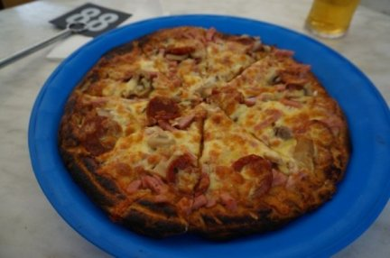 BBQ Meatlovers pizza at Ironbark Brewery, Swan Valley