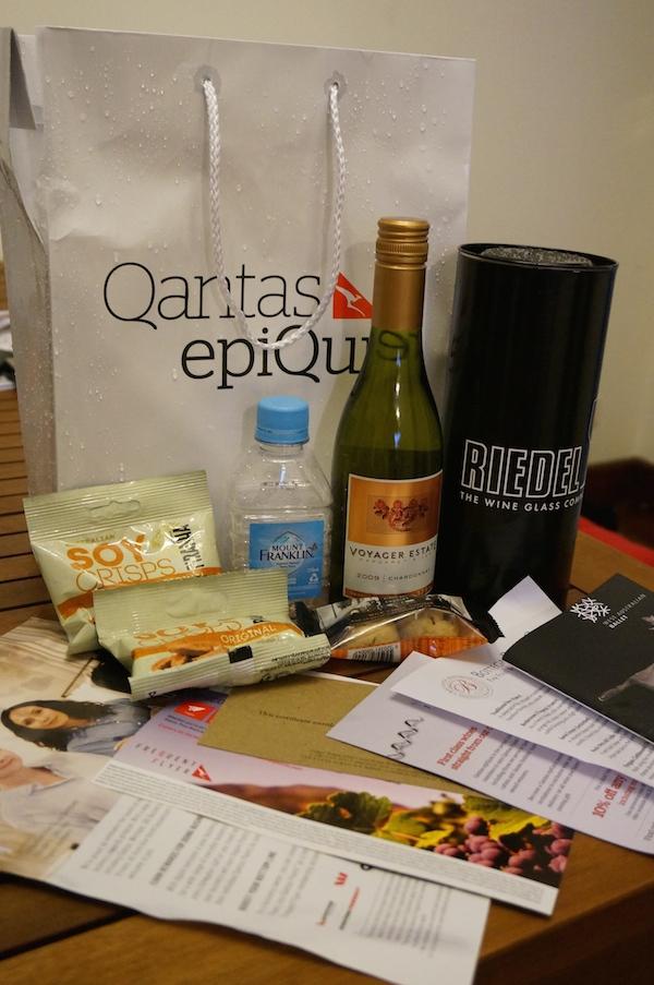 Qantas epiQure Wine Fair Goodie Bag
