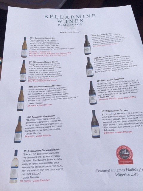 Sunset Wine 2014 - Bellarmine Wines