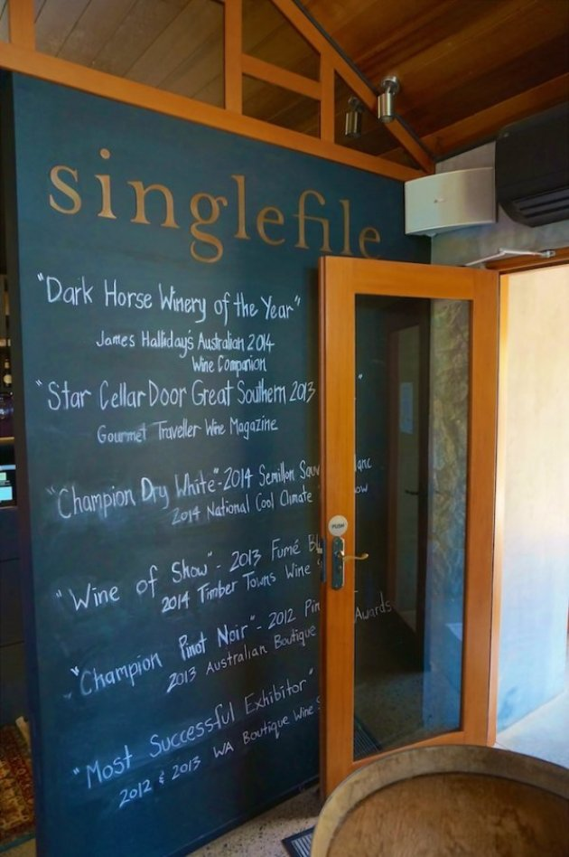 Singlefile Wines - Dark Horse Winery of the Year 2014