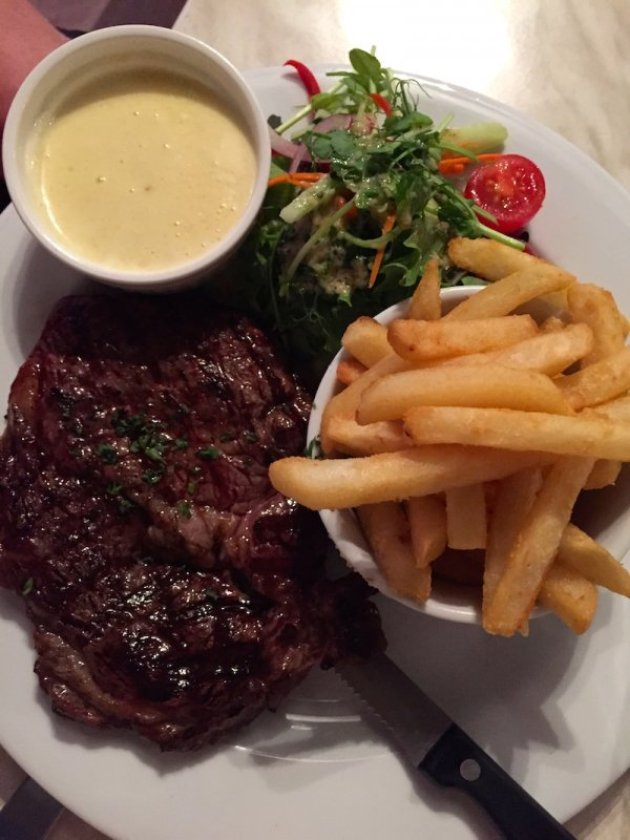 MSA Black Angus Scotch Fillet Steak at the Castelli Estate Bistro