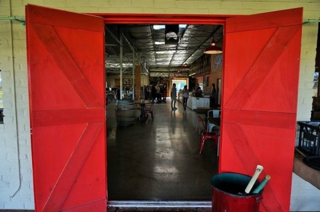 Red Doors at Oakover Grounds in the Swan Valley