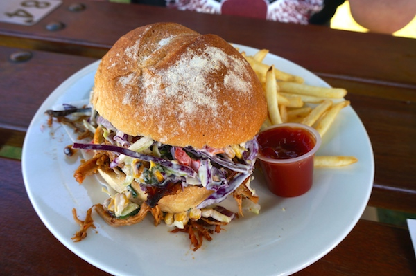 Pulled Pork Burger at Cheeky Monkey Brewery - Margaret River