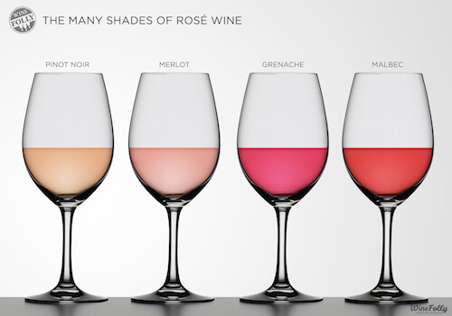 Rose Wine Colours by Wine Folly