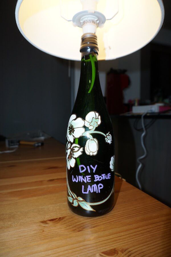 Diy Wine Bottle Lamp Step By Step Travelling Corkscrew