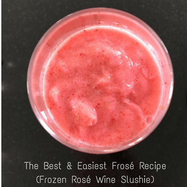The Best & Easiest Frose Recipe (Frozen Rose Slushie)
