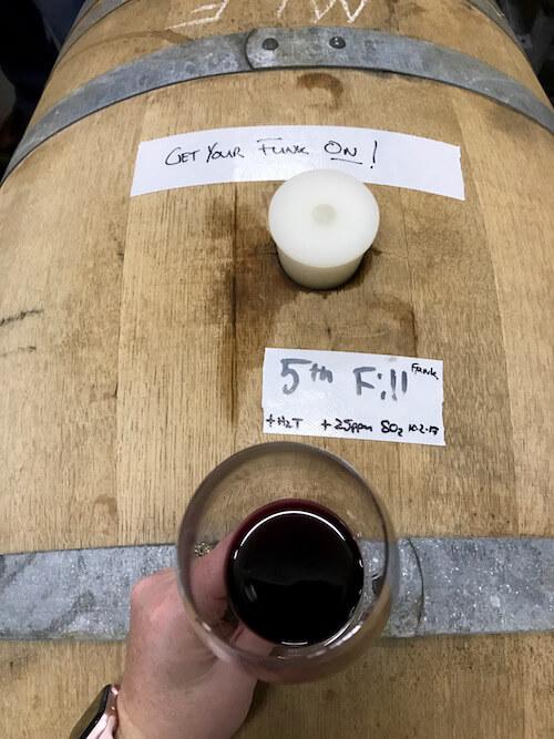 Barrels at Sitella Winery