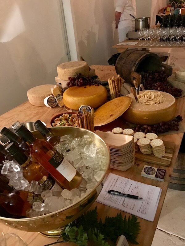 Cambray Cheese Table at Brown Brothers Patricia Launch