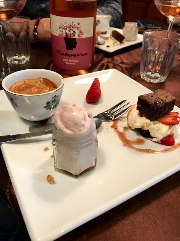 Dessert - Chocolate Chilli Pork Company BYO Degustation