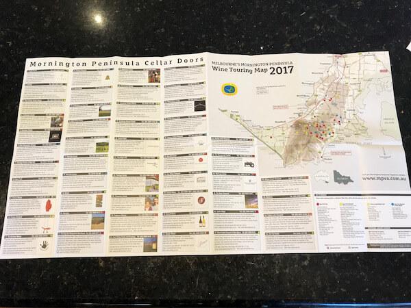 Mornington Peninsula Wineries Map 2017