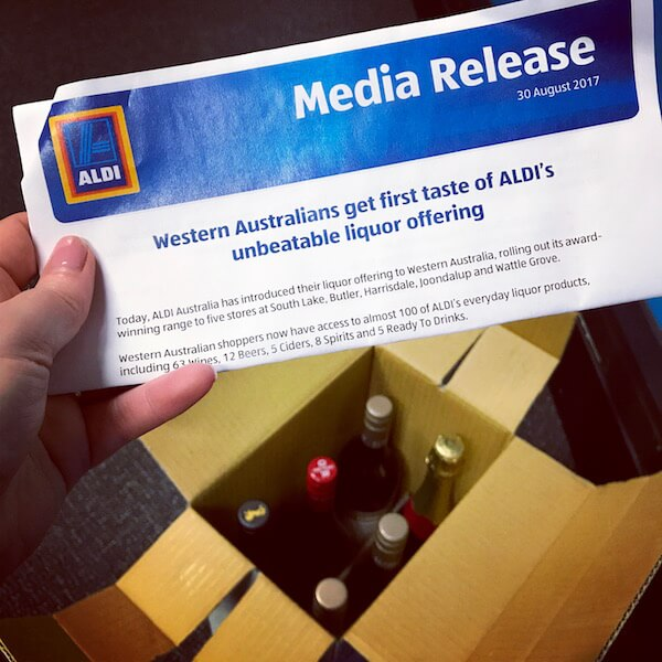 ALDI Wine Now in Perth - Media Release