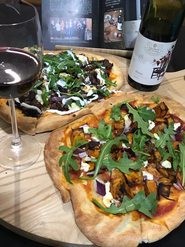 Brown Brothers 18 Eighty Nine 2015 Shiraz & Pizza