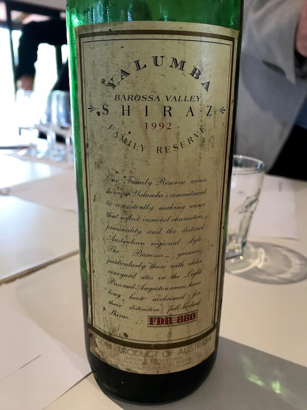 Yalumba 1992 Shiraz