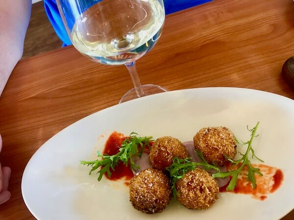 Arancini at Avon Ridge Vineyard