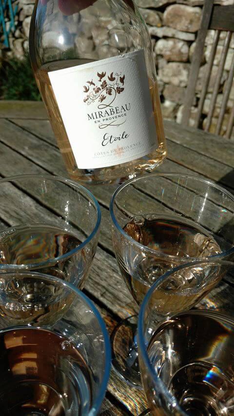 Mirabeau rose wine in lake District - Nicola Heyes