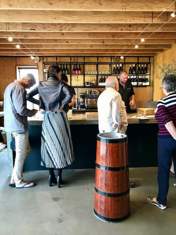 Inside the Lightfoot and Sons cellar door