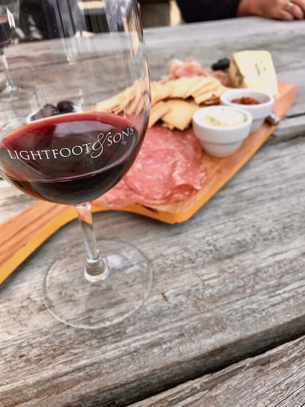 Lightfoot and Sons Shiraz with platter