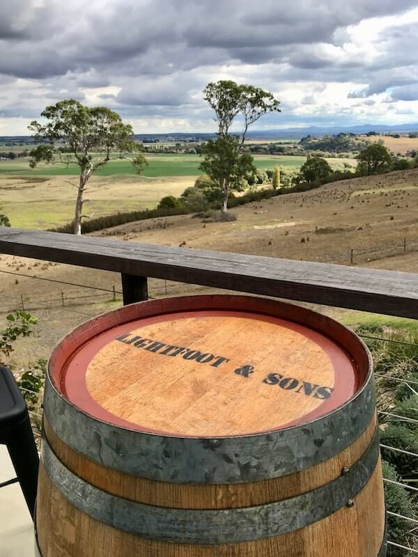 Lightfoot and Sons barrel at cellar door