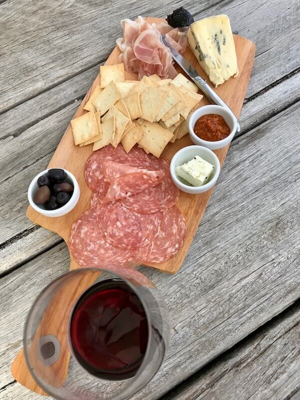 Lightfoot and Sons wine and cheese and meat board