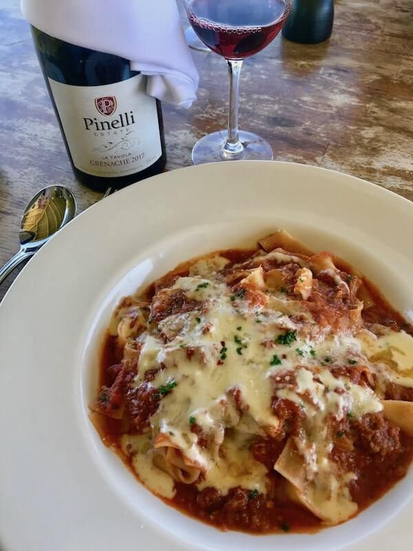 Ragu Bolognese at Pinelli Winery Restaurant - Swan Valley Perth