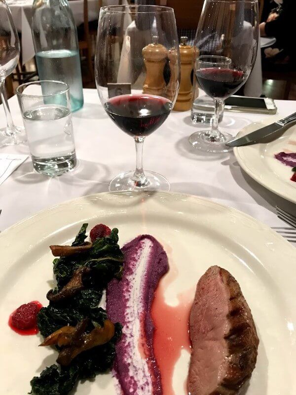 fourth-course-anatra-darancia-at-pinelli-estate-winery-restaurant-with-a-glass-of-grenache-reserve